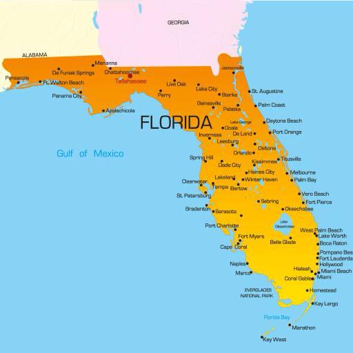 mapa florida estados unidos Pixwords La imagen con estado, paÃs, estados unidos, la florida  mapa florida estados unidos